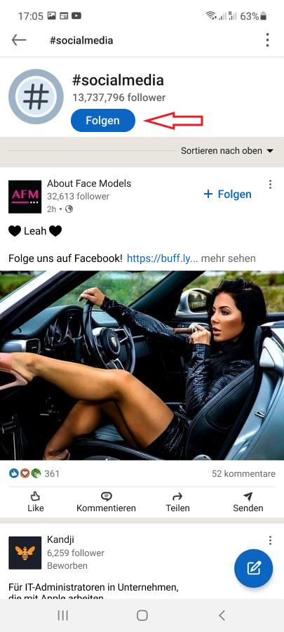 Wie Sie Hashtags auf LinkedIn folgen - Bild 2