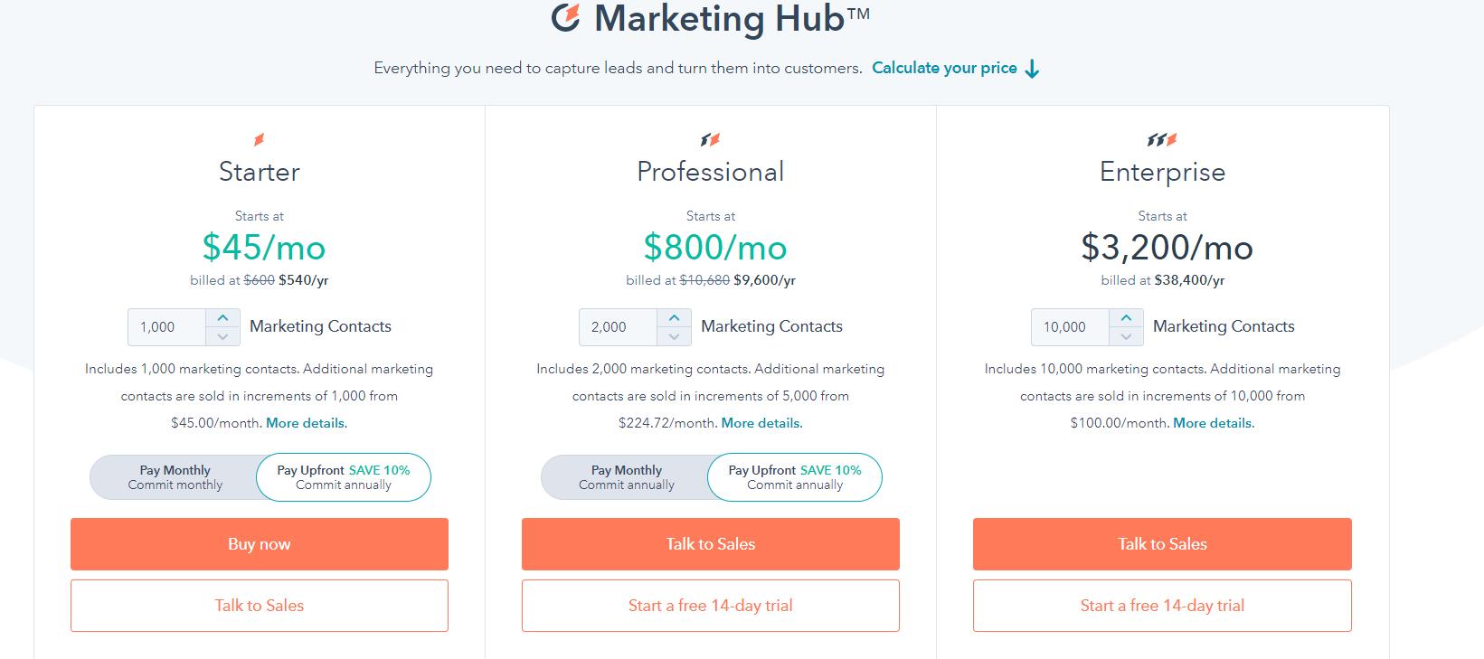 Ціни на HubSpot - зображення 1
