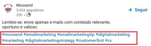 Como encontrar Hashtags no LinkedIn - imagem 1