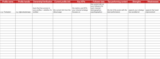 Grab Our Free Social Media Audit Template