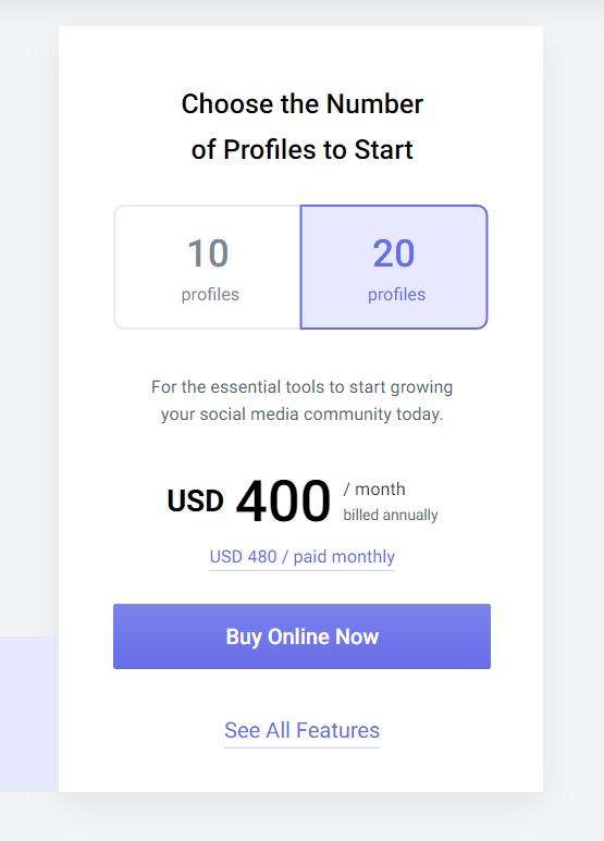 Ціни Socialbakers