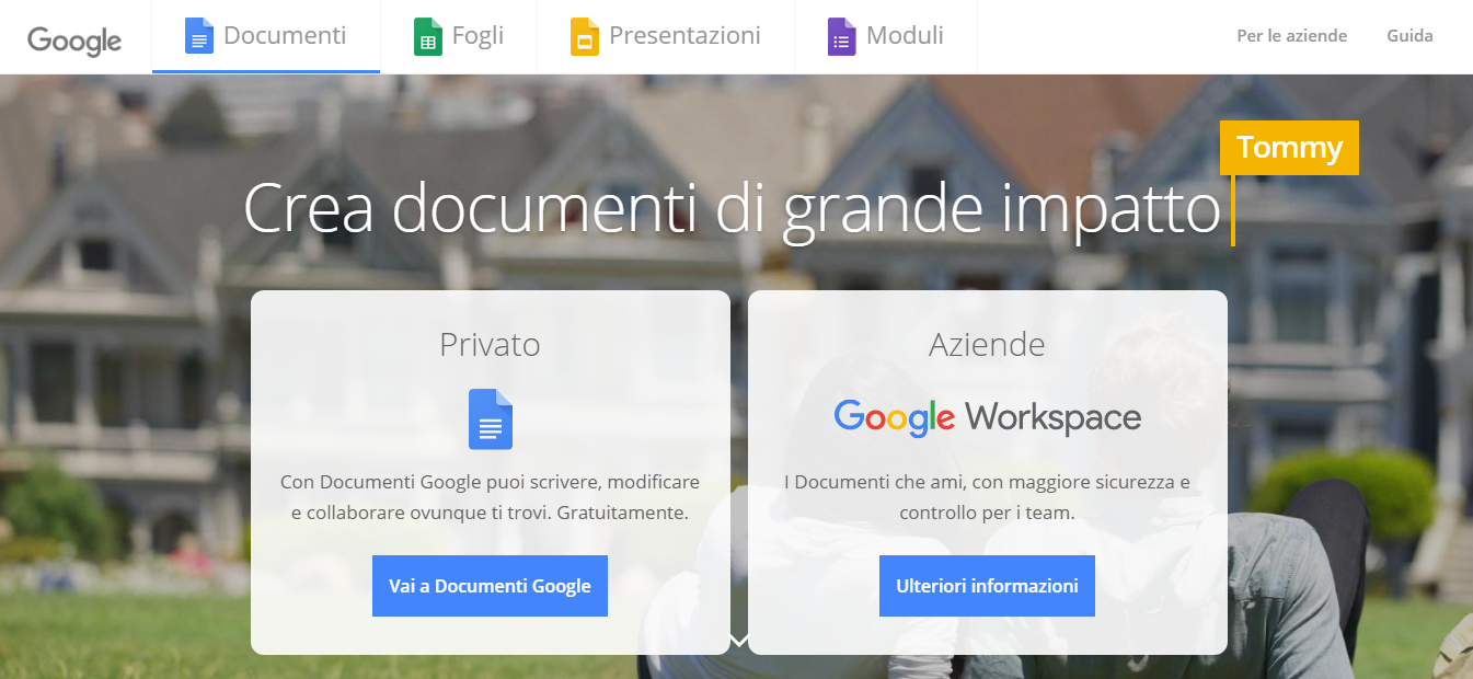 Strumento n.2:Google Docs