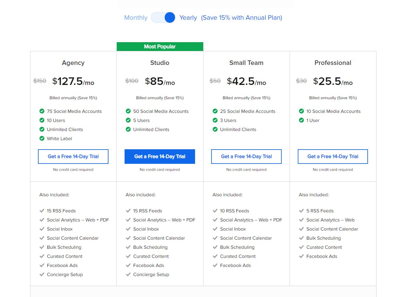 Ціни на SocialPilot - зображення 1