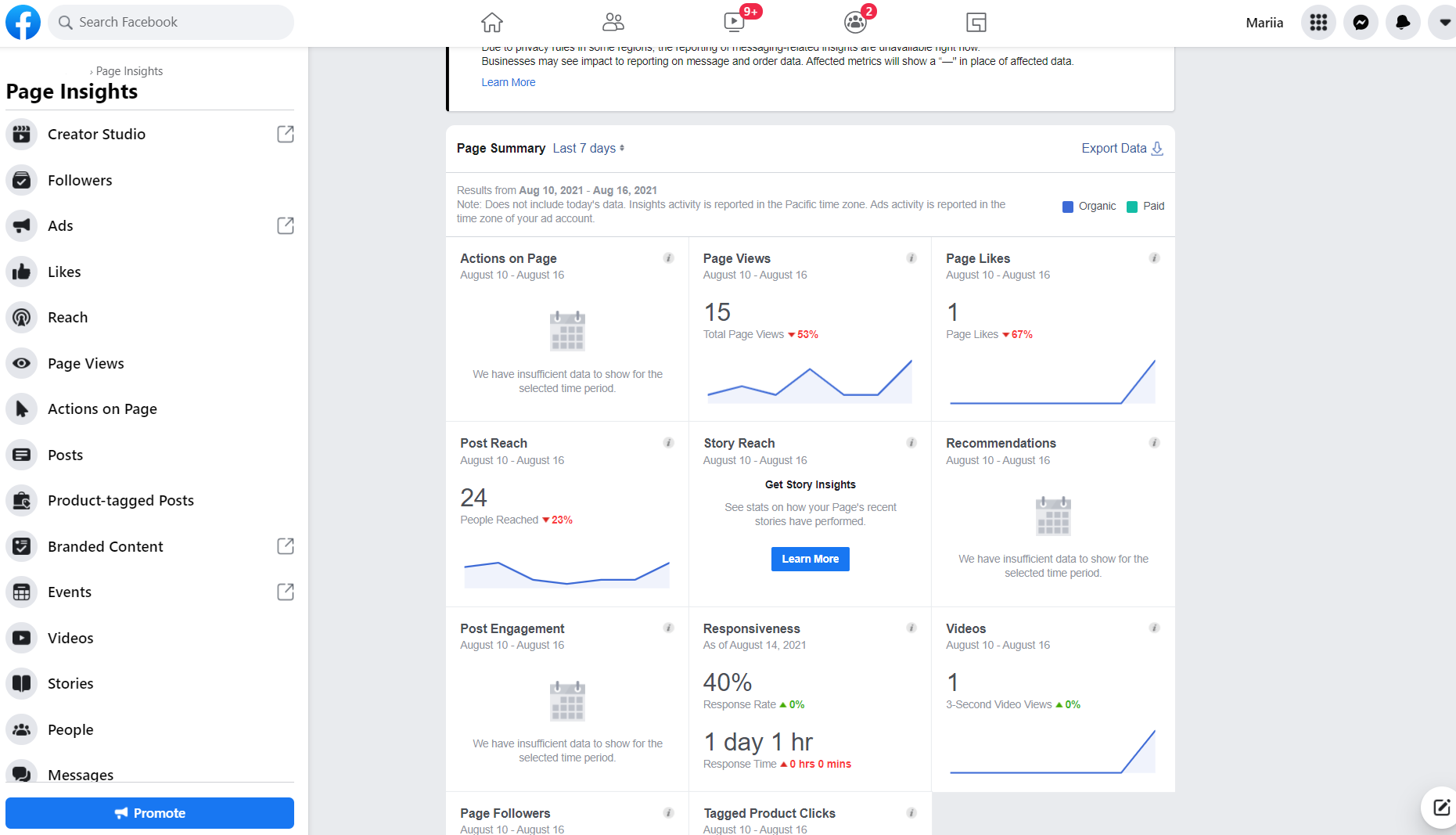 6. Facebook Page Insights - picture 1
