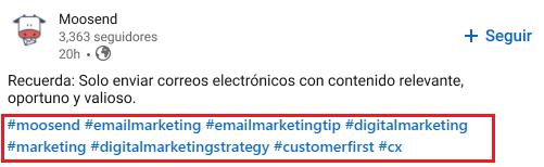 Cómo encontrar hashtags en LinkedIn - Imagen 1