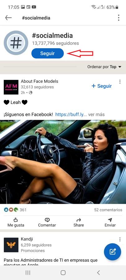 Cómo seguir hashtags en LinkedIn - Imagen 2