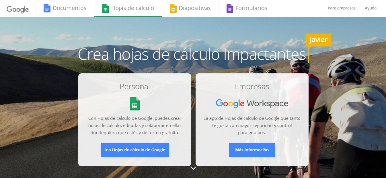 Herramienta #3: Google Sheets