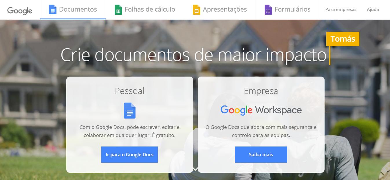 Ferramenta #2: Google Docs