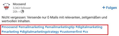 Wie Sie Hashtags auf LinkedIn finden können - Bild 1