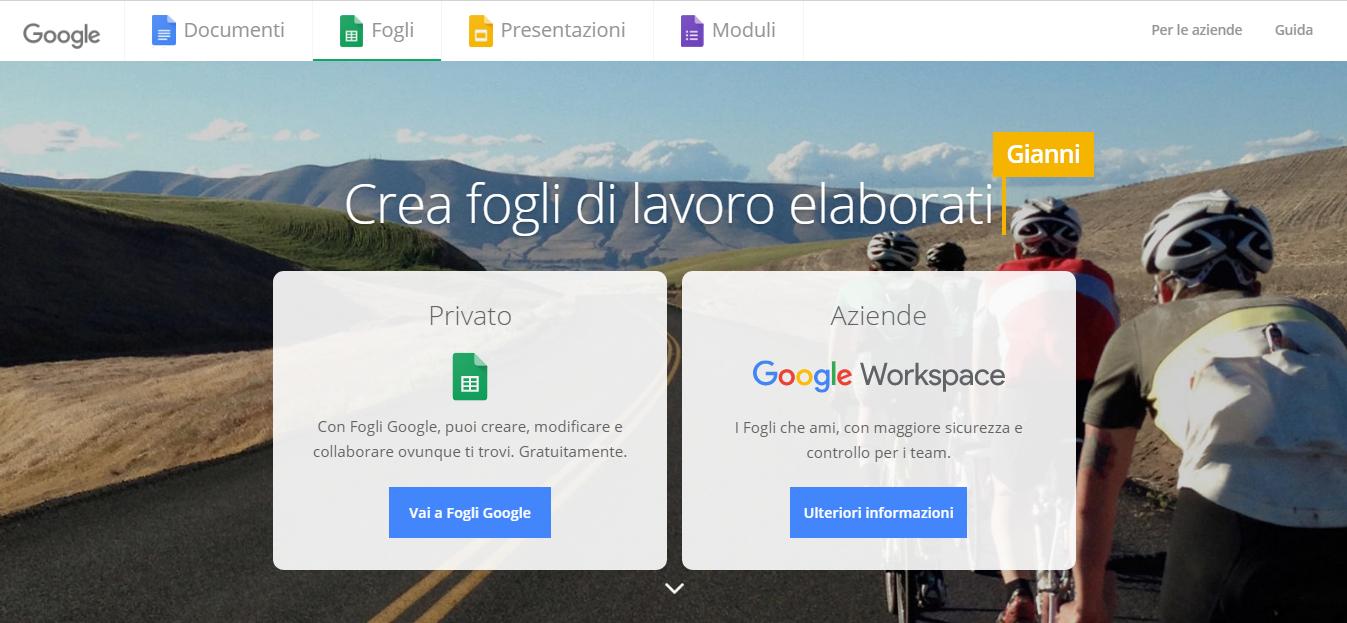 Strumento n.3:Google Sheets