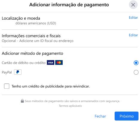 Passo #6: Escolha um método de pagamento e colocação - imagem 2