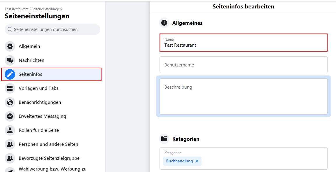 So ändern Sie den Namen der Facebook-Geschäftsseite