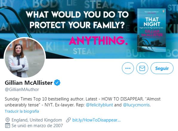 Enlace a otras cuentas verificadas de Twitter