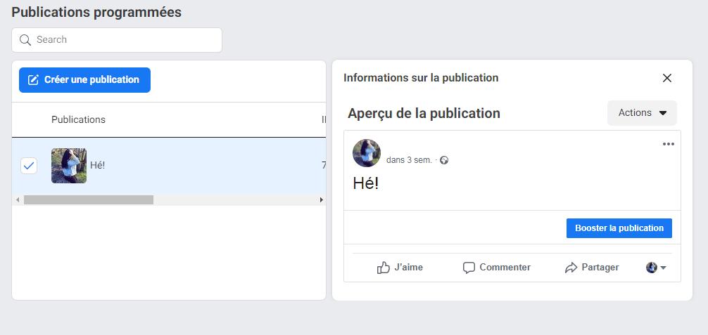 Comment reprogrammer, modifier ou supprimer des messages sur Facebook - image 3