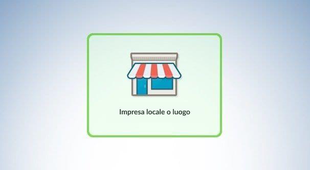 Impresa locale o luogo