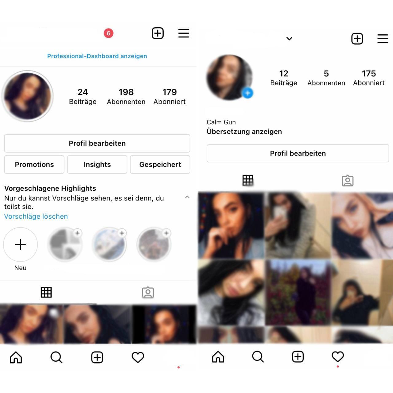 Instagram-Geschäftskonto vs. Persönliches Konto
