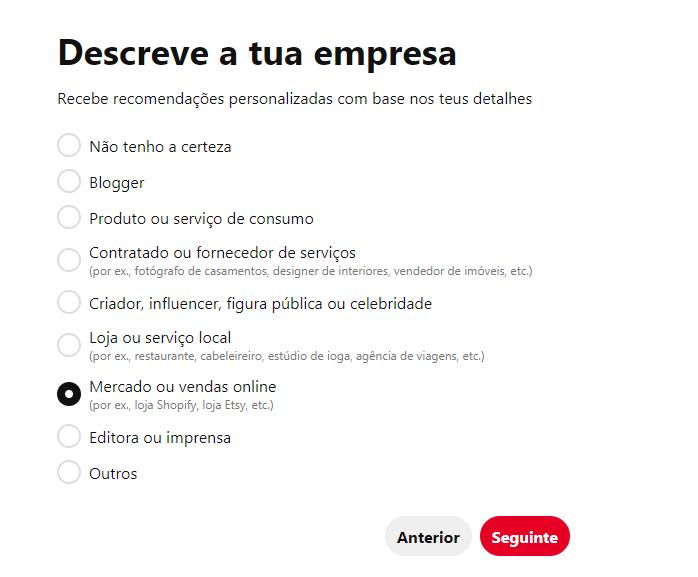Como faço para criar uma página comercial no Pinterest? - imagem 2