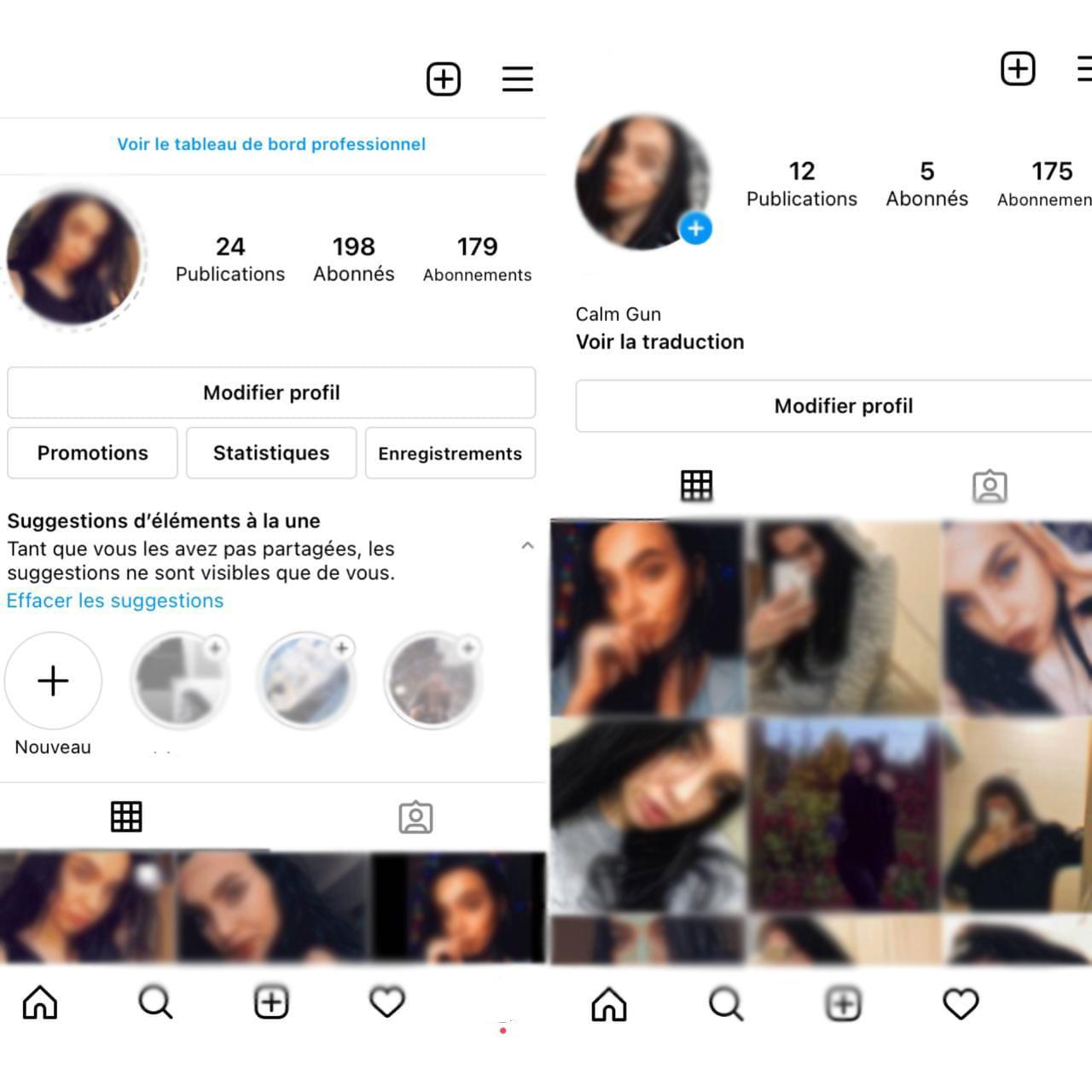 Compte professionnel Instagram vs compte personnel