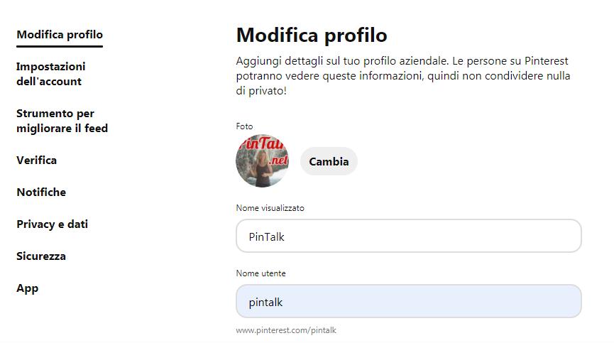 Come si crea una pagina aziendale su Pinterest? - immagine 5