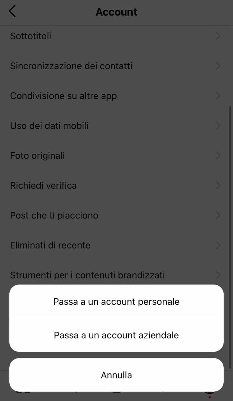 Come passare a un account aziendale Instagram - immagine 1