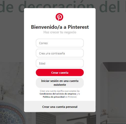 ¿Cómo crear una página de empresa en Pinterest? - imagen 1