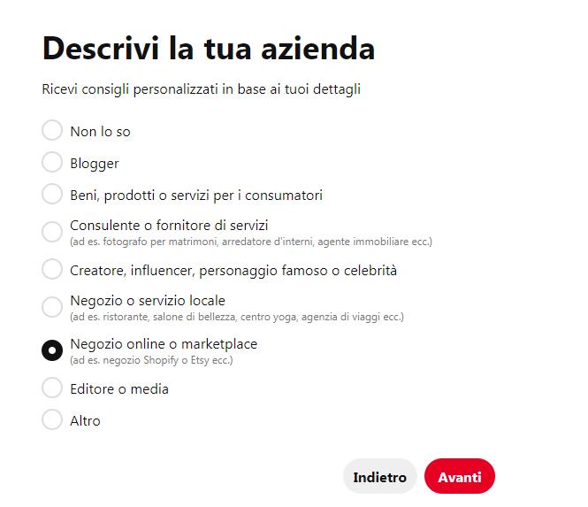 Come si crea una pagina aziendale su Pinterest? - immagine 2