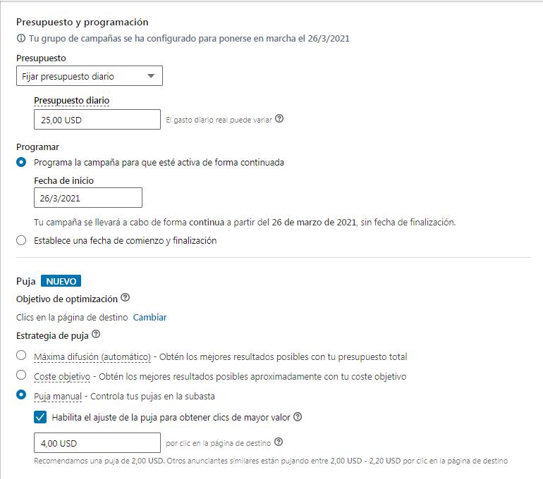 Cómo realizar anuncios dirigidos en Linkedin con un presupuesto limitado - imagen 3