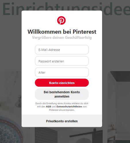Wie erstelle ich eine Unternehmensseite auf Pinterest? - Bild 1