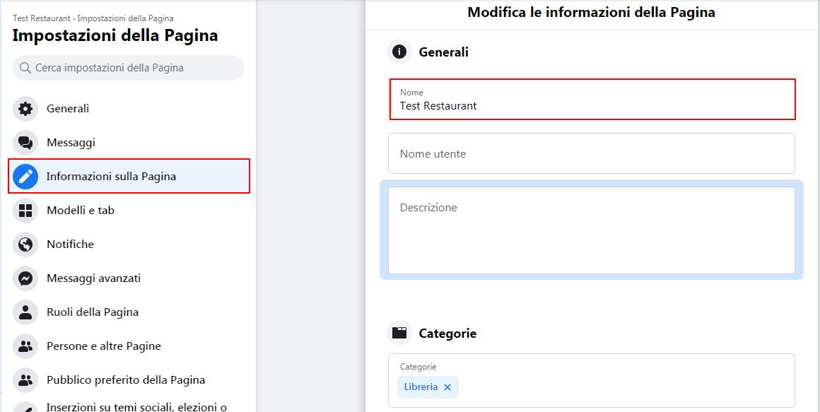 Come cambiare il nome di una pagina Facebook aziendale