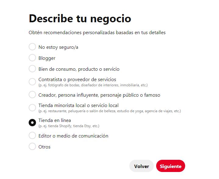 ¿Cómo crear una página de empresa en Pinterest? - imagen 2
