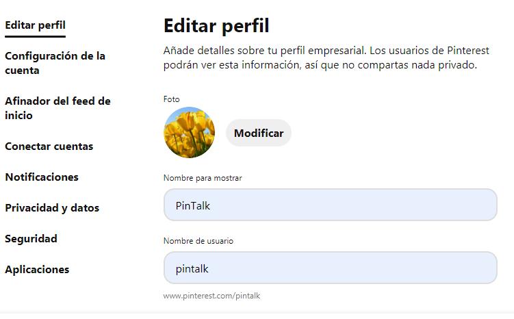 ¿Cómo crear una página de empresa en Pinterest? - imagen 5