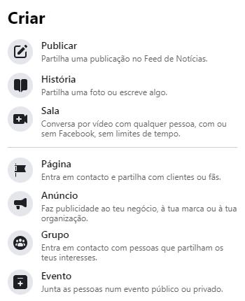 Como criar uma página comercial no Facebook - imagem 1