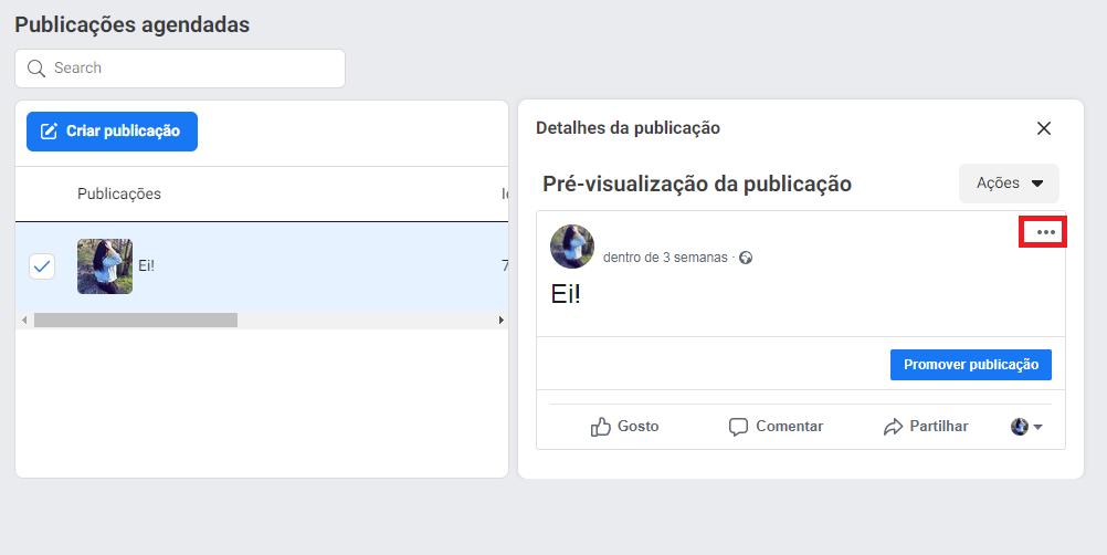 Como reprogramar, editar ou excluir postagens no Facebook - imagem 4