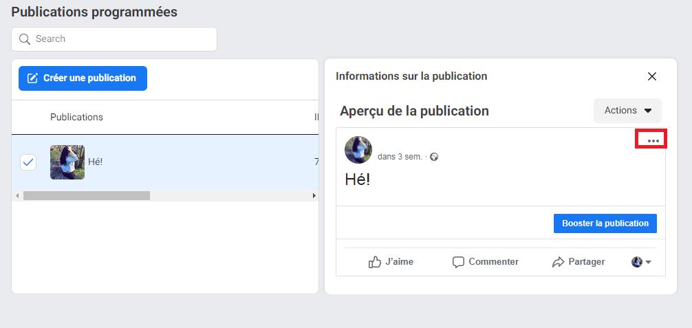 Comment reprogrammer, modifier ou supprimer des messages sur Facebook - image 4