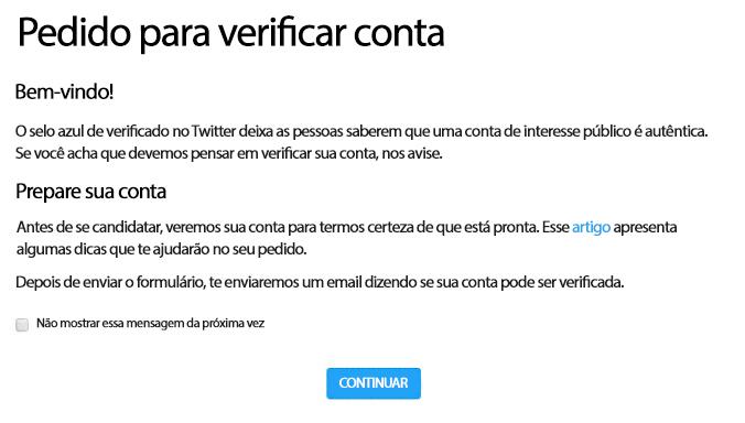 O que significa a verificação do Twitter?