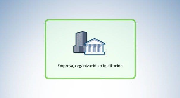 Empresa, organización o institución