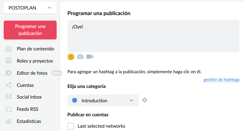 ¿Cómo programar una publicación de Facebook con Postoplan? - Imagen 2
