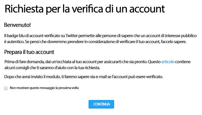 Cos'è la verifica di Twitter?