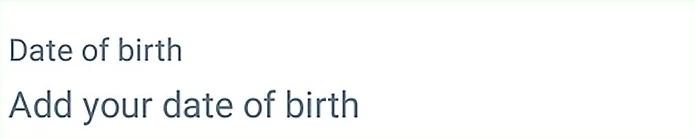 Add your birthday
