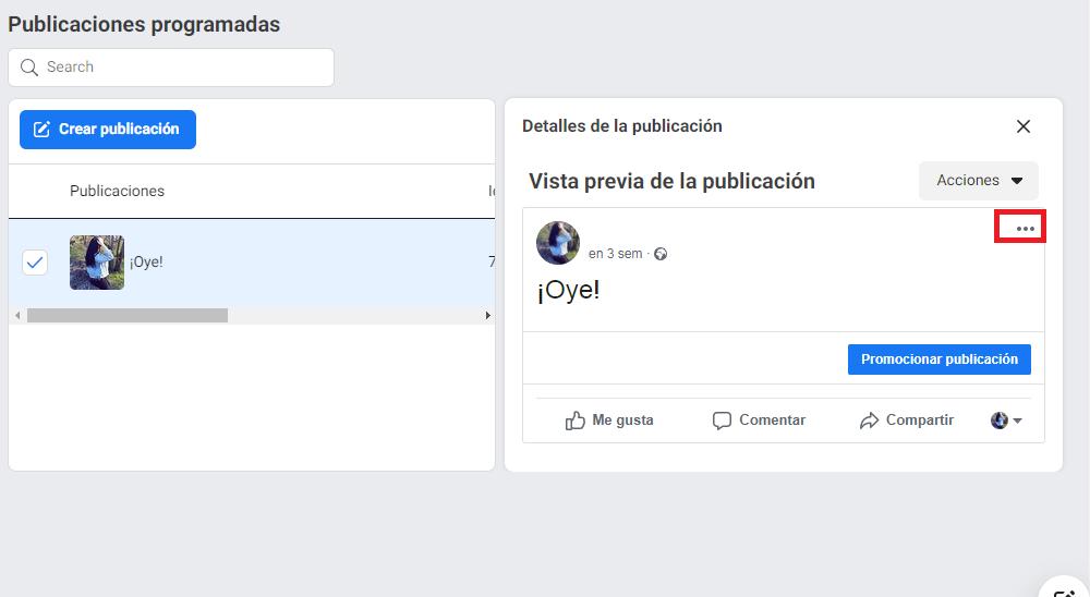 Cómo reprogramar, editar o eliminar publicaciones en Facebook - imagen 4