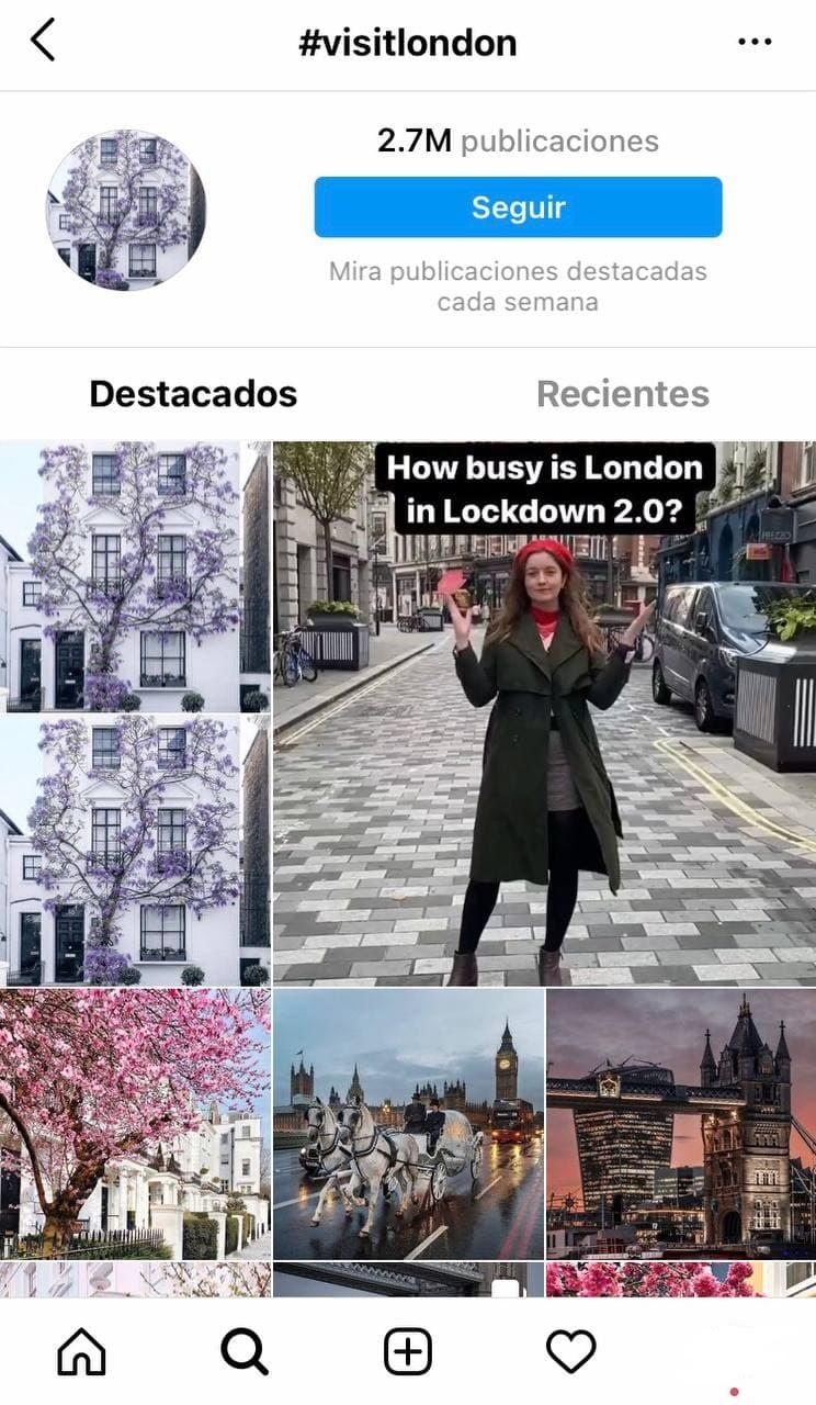 Use hashtags en Instagram Stories