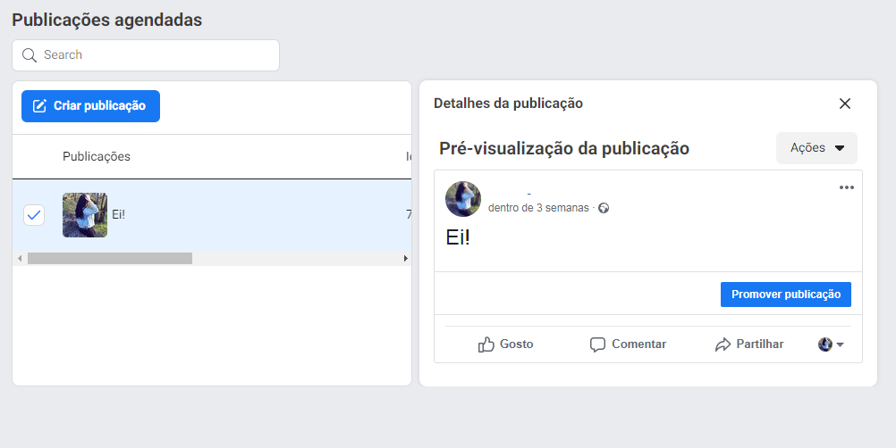 Como reprogramar, editar ou excluir postagens no Facebook - imagem 3